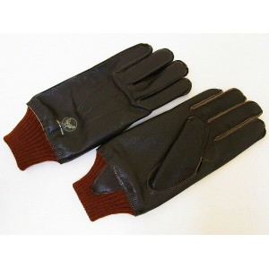Buzz Rickson's[バズリクソンズ] A-10 グローブ GLOVE 手袋 BR01221 (S/BROWN×RED RIB) 送料無料 代引き手数料無料 【RCP】