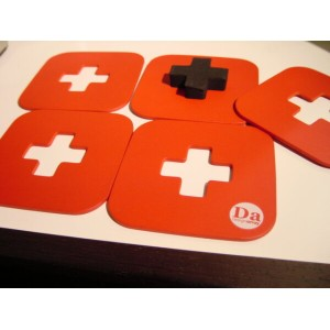 PUT-coasters set(レッド)