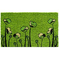 Entryways One Sunflower Hand Woven Coir Doormat, 18 by 30-Inch ドア マット グリーン