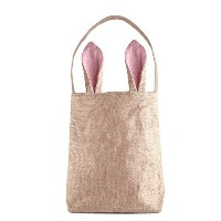 Easter Bunny Bags, PJS-MAX Dual Layer Bunny Ears Design Jute Cloth Material Easter Party Bags...