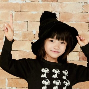 Halloween witch knit hatハロウィン 魔女 帽子 子供 衣装 仮装 ニットハット 7人の小人 PIXY PLANET54cm KIDS HAT【2017FW】