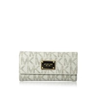 Michael Kors Women's Jet Set Checkbook Wallet Clutch - MKJSCW1307/マイケルコース/財布/並行輸入品