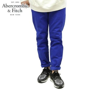 【15%OFFセール 3/24 20:00~3/29 1:59】 アバクロ Abercrombie&Fitch 正規品 メンズ スキニーチノパン A&F SKINNY CHINOS BLUE