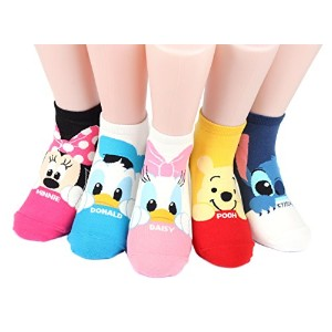 ディズニー キャラクター 女性 靴下 セット Disney Mug Sneakers Women's Socks 6 pairs Made in Korea (Micky,Minie,Donald...