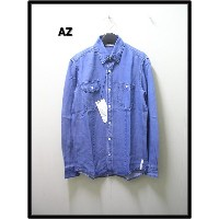 M 【AZ エーゼイ [junhashimoto] Tencel Dnim Shirts Bleach tennseru デニムシャツ buri-chi】