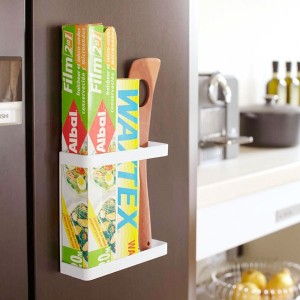 TOWER WALL KITCHEN シリーズ マグネットラップホルダー 【ラップホルダー】【ラップ収納】【ラップケース】【山崎実業】【TOWER】