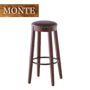 MONTE(モンテ) 「カウンタースツール/COUNTER Stool」 2脚組 ブラウン ウッドスツール、バーチェア 【送料無料】