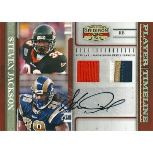 スティーブン・ジャクソン NFLカード Steven Jackson 2007 Donruss Gridiron Gear Player Timeline Materials Autographs...