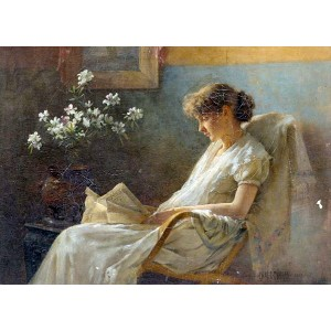 油絵 Charles Courtney Curran_快適な場所