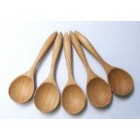 Wooden Utensil 5 Carved Wood Soup Spoon 6 Unique Kitchen Accessory Thailand Handcraft by kitchen...
