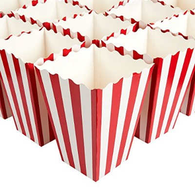 (4.25 x 16cm x 11cm ) - Set of 100 Popcorn Favour Boxes - Paper Popcorn Containers, Popcorn Party...