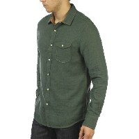 ジェレミア メンズ シャツ トップス Jeremiah Men's Chase Reversible Melange Gauze Shirt Deep Pine Heather