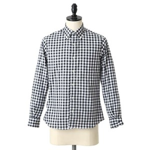【SALE/セール】INDIVIDUALIZED SHIRTS(インディビジュアライズド シャツ) / 別注L/S Standard Fit Big Gingham B.D shirts -MBDM...