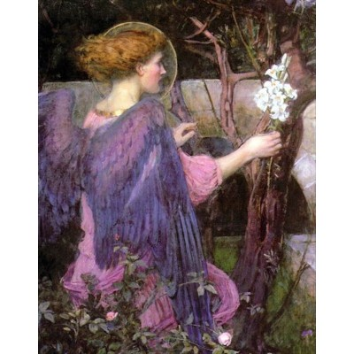 油絵 John William Waterhouse_ 受胎告知