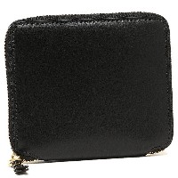 コムデギャルソン 財布 COMME des GARCONS SA2100 CLASSIC LEATHER LINE ZIP AROUND SMALL WALLET 二つ折り財布 BLACK