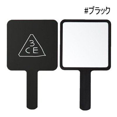 [3CE/3CONCEPT EYES] 3CE SQUARE HAND MIRROR 手鏡 ハンドミラー #BLACK