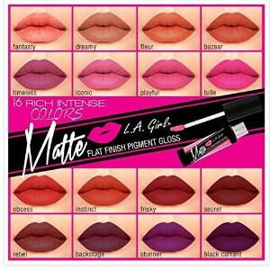 (L.A. Girl) L.A. Girl Matte Pigment Lip Gloss  Pick Your Choice of any Colors  (Pack of 2)