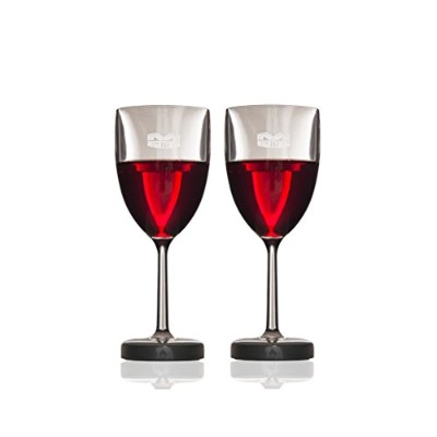 Mighty Mug Barware collection : Unspillable Mighty Wine Glasses Set of 2