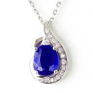 One&Only Jewellery 【鑑別書付】 2.5ct 天然サファイヤ K18GP ネックレス 9月誕生石