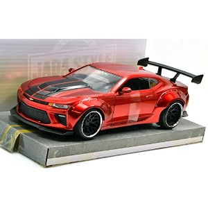 "JADA TOYS 1:24SCALE BIGTIME MUSCLE - WIDE BODY ""2016 CHEVROLET CAMARO SS""(CANDY RED) ジェイダトイズ 1..."