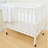 TL Care Heavenly Soft Minky Dot 3 Piece Mini Crib Set, White by TL Care