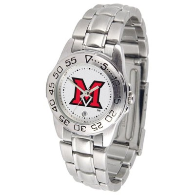 Miami (Ohio) Redhawks GamedayスポーツLadies ' Watch with aメタルバンド