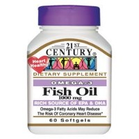21st Century Health Care, Fish Oil, 1000 mg, 60 Softgels