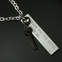 KEY&MESSAGE STICKペアネックレス