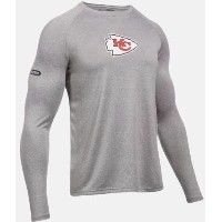 Under Armour NFL Combine Authentic UA Kansas City Chiefs Logo Long Sleeve Shirt メンズ ロンT Tシャツ...