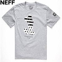 NEFF Disney Stripe-A-Dot Mickey T-Shirt Heather Grey M Tシャツ 並行輸入品