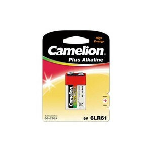 Camelion カメリオン 9V 006P 角型アルカリ電池 Plus Alkaline Batteries Plastic case 1P 6LR61-BP1