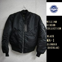 Buzz Rickson's WILLIAM GIBSON COLLECTION (ステンシルなし)MA-1スレンダーブラック(レギュラー丈)BLACK MA-1 SLENDER REGULAR...