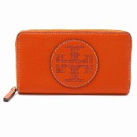 TORY BURCH Perforated Logo 36730 818 Zip Continental Wallet レディース ラウンドファスナー長財布 Spice Orange トリーバーチ ...