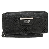 ゲス 財布 GUESS PR642246 BOBBI SLG LARGE ZIP AROUND 長財布 BLACK [並行輸入品]