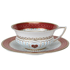 Wedgwood ウェッジウッド Harlequin Collection Queen of Hearts ハーレクイン コレクション クィーン オブ ハーツ Teacup & Saucer...