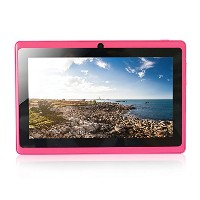YUNTAB(JP)7インチタブレット Q88 tablet  クアッドコア Android 4.4 1024*600 google play/WIFI(ピンク)
