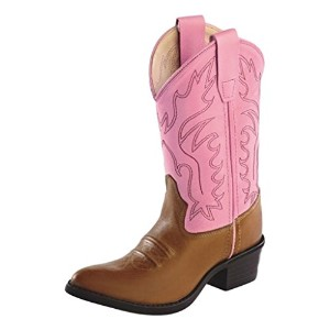 Old West Girls ' Cowgirl Boot – ccy8139g US サイズ: 4.5 Youth カラー: ブラウン