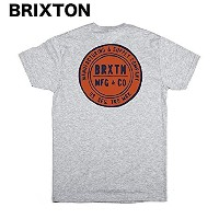 Brixton Cutler T-Shirt Heather Grey M Tシャツ 並行輸入品
