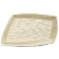 """10"""" All Natural Palmリーフプレート( Set of 100)"""
