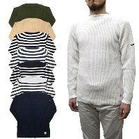 """【8 COLOR】FILEUSE D'ARVOR(フィルーズ ダルボー) """"DOUARNENEZ"""" BOAT NECK SWEATER (ボートネックセーター) COTTON KNIT..."""
