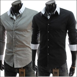 POLO 2014 New Slim Fit Stylish Cotton Long Sleeve Casual Dress Mens Shirts Men Hombre Camisas
