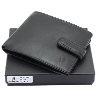 Strahide RFID Safe Mens wallet - Genuine Leather Wallet Zip Coin Pocket Gift Boxed #840
