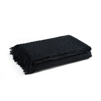 EHC 179 x 254 cm 100 Percent Cotton Waffle Large 2 Seater Sofa or Double Bed Throw, Black by EHC