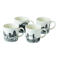 Royal Doulton Charlene Mullen Mugs, London City Scape, Set of 4 by Royal Doulton