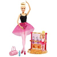 バービー バレエコーチ ドール(2体)&プレイセット (Barbie Careers Ballet Instructor Doll and Playset, Blonde/ DXC93...