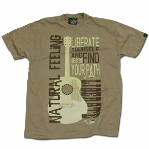GUITAR ヘンプ Tシャツ サンド one by one clothing