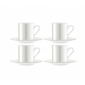 LSA PEARLEspresso Cup & Saucerエスプレッソカップ&ソーサー【4コセット】