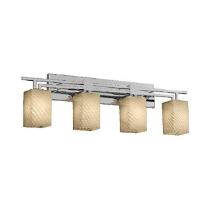 Justice Design Group Lighting FSN870415WEVECROM FusionCollection Aero 4-Light Bath Bar by Justice...