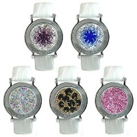 Navika Ladies White Leather Micro Pave Crystal Marker Bracelets【ゴルフ レディース>ボールマーカー】
