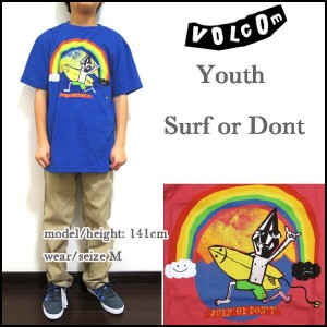 VOLCOM/ボルコム/キッズ/Tシャツ/ボーイズ/子供/YOUTH SURF OR DONT TEE/ジュニア/ティーシャツ/半袖 05P03Dec16